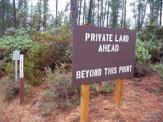 Sign: Private Land.