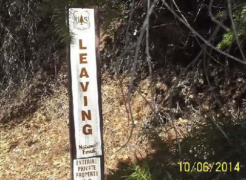 Leaving and Entering Private Property sign.